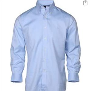 •YSL Blue Collared Button Down Shirt•